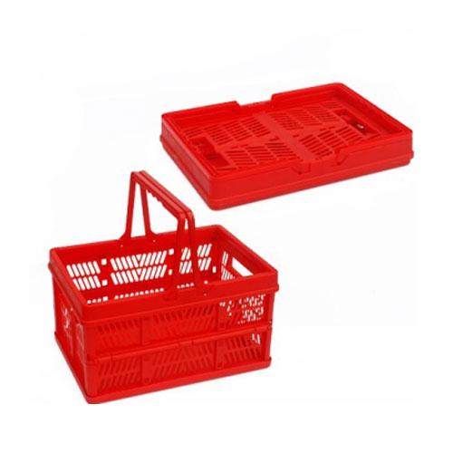 praktický plastický skladacie košík pre nakupovanie