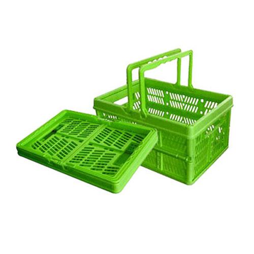 plastický skladacie nakupovanie košík s rukoväte