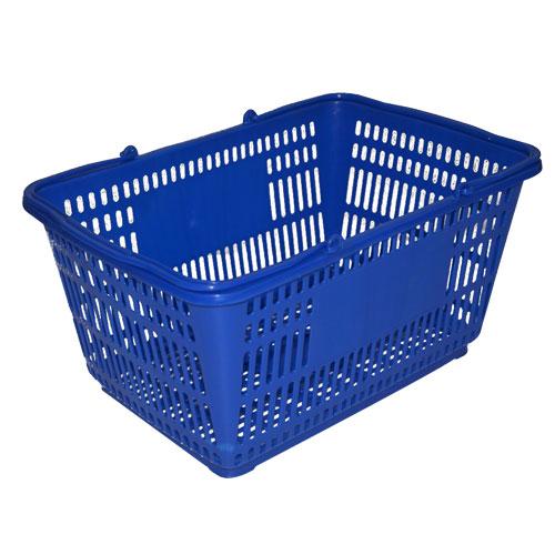 plastický nakupovanie košík s rukoväte