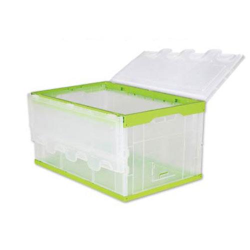 Priemyselný skladovanie logistický hniezdenia stohovateľné ťažký clo skladacie plastický pripojený viečko kontajner