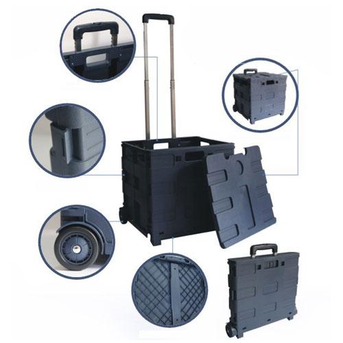ľahká váha Mobilné plastický nakupovanie skladacie vozík